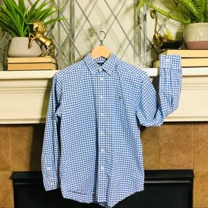 Ralph Lauren Polo checkered gingham dress shirt L